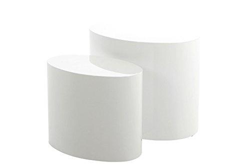 AC Design Furniture Couchtisch Rico, B: 33 x T:48 x H: 40 cm, MDF, Weiss