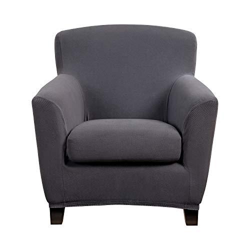 Bellboni Couchhusse für Einsitzer Couchsessel oder Loungesessel, Sofabezug, bi-elastische Stretchhusse, Spannbezug für viele gängige Einer Sessel