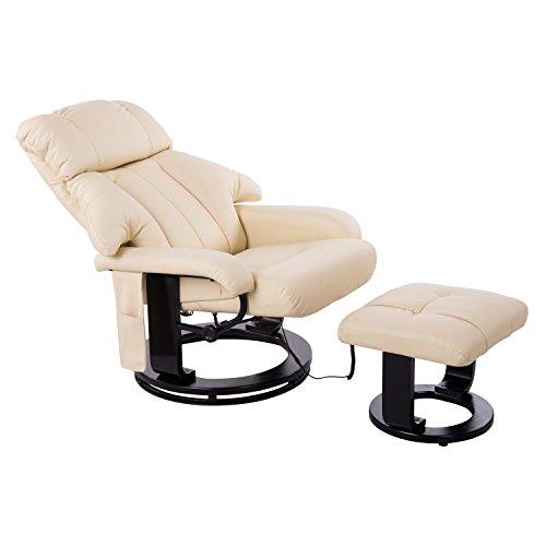 Homcom Massagesessel Relaxsessel Fernsehsessel 10 Point Massage mit Heizfunktion inkl Hocker