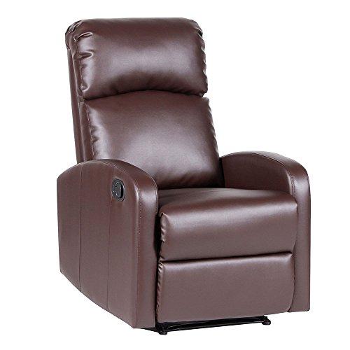 SVITA Relaxsessel Fernsehsessel Ruhesessel mit Verstellbarer Beinablage und Liege-Funktion – Kunstleder Farbwahl