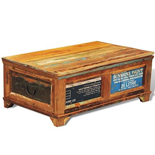 vidaXL Couchtisch mit Stauraum Tisch Aufbewahrungstruhe Vintage Recyceltes Holz