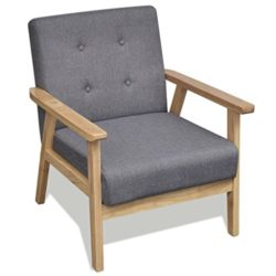 vidaXL Retro Holz Lehnstuhl Relaxsessel Esszimmer Stuhl Sessel Polstersessel