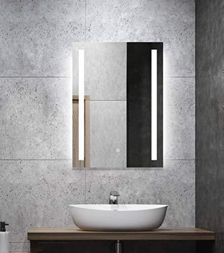 ALLDREI Badezimmerspiegel mit Beleuchtung Badezimmerspiegel