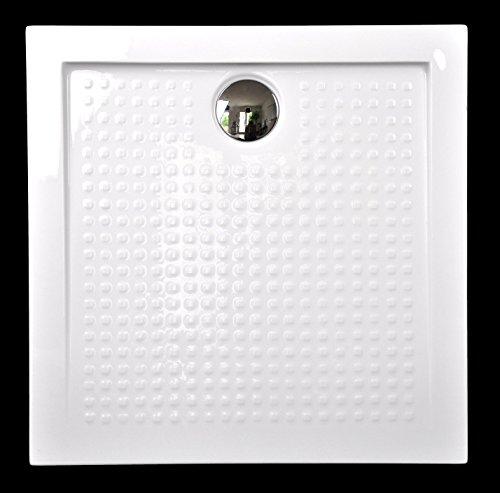 Art-of-Baan Duschtasse quadratisch, Anti-Slip, Duschwanne Acryl - 90x90x3,5 cm inkl. Ablaufgarnitur