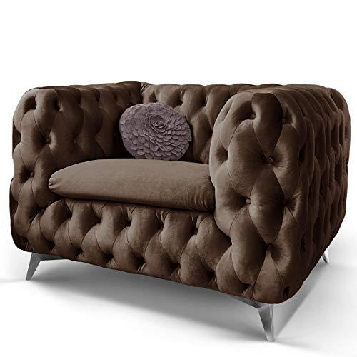 Chesterfield Sofa Couch Stoff Samt 3 Sitzer 2 Sitzer Sessel 1 Sitzer Designer Möbel Emma