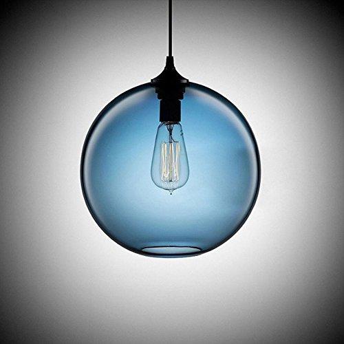 Cozyle Industrielle Retro Pendelleuchte LED Kronleuchter Vintage Loft hängendes Licht Glass Shades E27 Leuchtmittel für Küche, Wohnzimmer, Schlafzimmer Restaurant