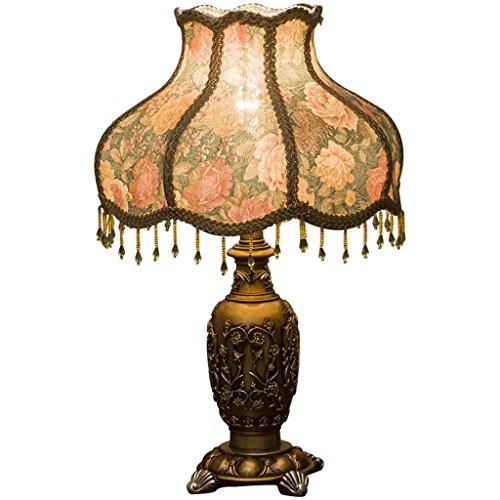 DENGJU Schlafzimmer Lampe American Schreibtisch Lampe Luxus Tisch Lampe E27Lichtquelle Study Room Schlafzimmer Wohnzimmer Kunst Tisch Lampe (ohne Lichtquelle)