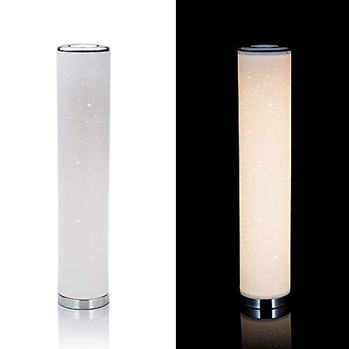 Dekorative und moderne Stehlampe/Tischlampe mit LED-Beleuchtung und zauberhaften Glitzereffekten - Dekolampe mit 90 warmweißen LED´s