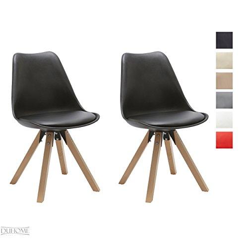 Duhome Elegant Lifestyle Stuhl Esszimmerstühle Küchenstühle !2 er Set! Farbauswahl Küchenstuhl mit Holzbeine Sitzkissen TYP9-518M Esszimmerstuhl Retro Küchenstuhl