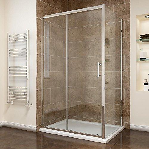 Duschkabine Schiebetür mit Seitenwand mit Duschtasse