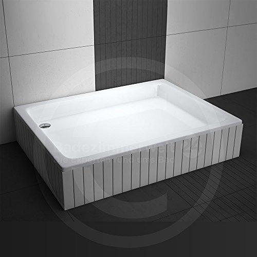 Duschwanne/Duschbecken Komplettset M02 | AQUABAD® Comfort Magno rechteckig/Höhe: 26cm| Styroporträger integriert, zum befliesen