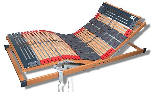FMP Matratzenmanufaktur 7 Zonen Teller Lattenrost Rhodos EL Komfort - Kopf- und Fußteil elektrisch verstellbar 2 Tellerzonen Lattenroste in verschiedenen Größen