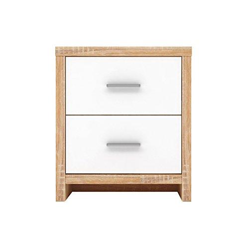 Furniture 247 Nachttisch mit 2 Schubladen