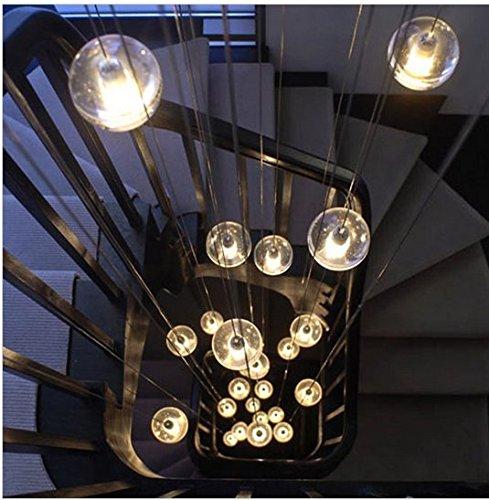 Gowe 36Rechteck Kronleuchter Pendelleuchte Meteor Dusche Bubble Glas Kugel Lampe Beleuchtung Bestandteil Esszimmer Treppe