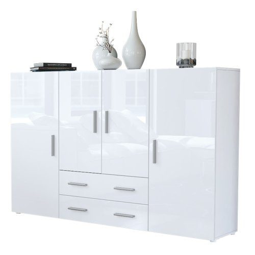 Highboard Sideboard Nora Weiß