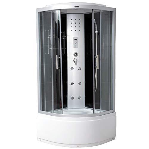 Home Deluxe - Duschkabine - Elegance Plus - Maße: 90 x 90 x 215 cm - inkl. komplettem Zubehör