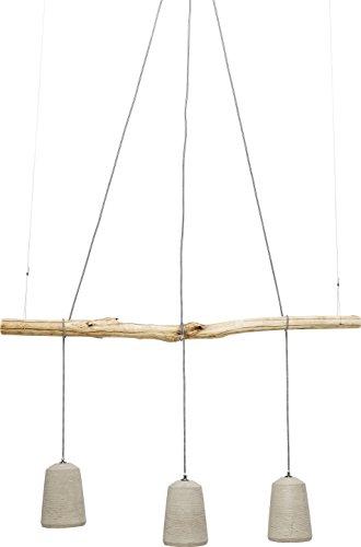 Kare Design Hängeleuchte Dining Concrete, Pendelleuchte, höhenverstellbare Hängelampen im Industrial-Design, Grau (H/B/T) 120x120x15cm