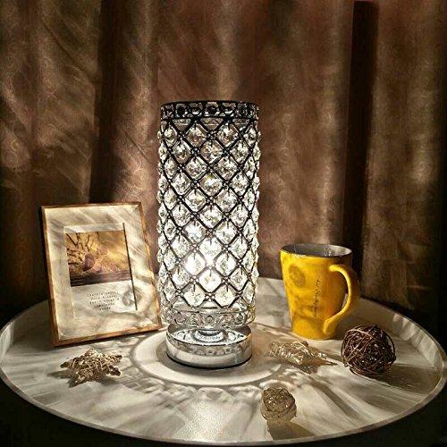 Kristall Tischleuchte,Tischlampe Tomshine Nachttischlampe,Tischleuchte mit 110 K5-Kristall für Wohnzimmer,Schlafzimmer,Esszimmer(Ohne Birne)