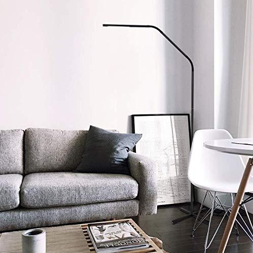 LE LED Stehlampe 3000-6000 Kelvin Stufenlos Dimmbar, Metall Stehleuchte mit Berührungs- und Fernbedingung Steuerung 6W, Schwanenhals Flexibel 500lm Bodenlampe für Wohnzimmer, Schlafzimmer, Büro usw.