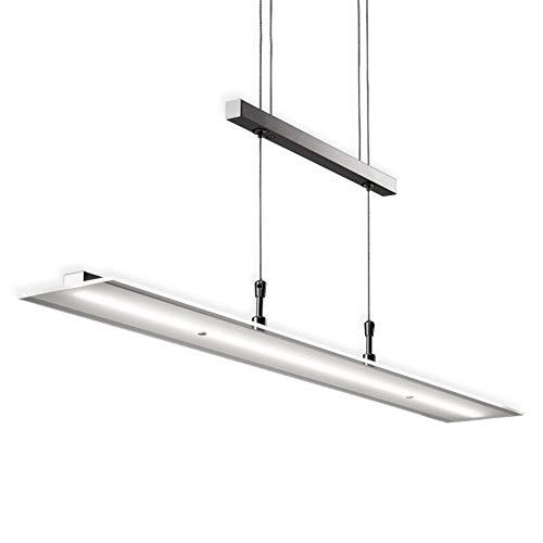 LED Pendelleuchte Dimmbar Stufenlos Höhenverstellbar Inkl. LED-Platine IP20 Hängelampe Deckenleuchte LED Wohnzimmerlampe Innenleuchte Modern Echtglasscheibe Warmweiss