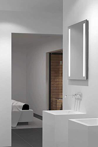 LED-Spiegel Talos Light– Warmweiß beleuchteter Spiegel für Das Badezimmer – Glas-Beleuchtung für Angenehmes Licht im Bad – Modernes Design und Hochwertige Beschichtung