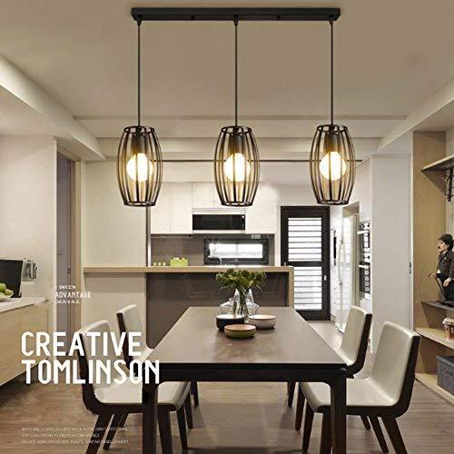 LEDNut Vintage Pendelleuchte 3er Set Kronleuchter Pendellampe Schwarz E27 Lampenschirm für Küche Wohnzimmer Decken Schlafzimmer Hängeleuchte