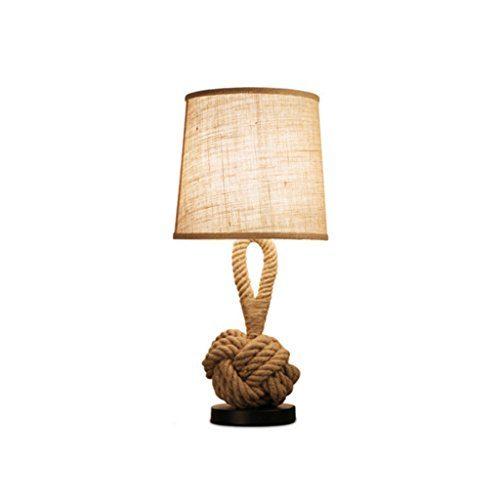 LILY Lampen Creative Seil Lampe Studie Persönlichkeit Nachttisch Lampe Schlafzimmer Wohnzimmer europäischen Stil Tischlampe dekoriert E27