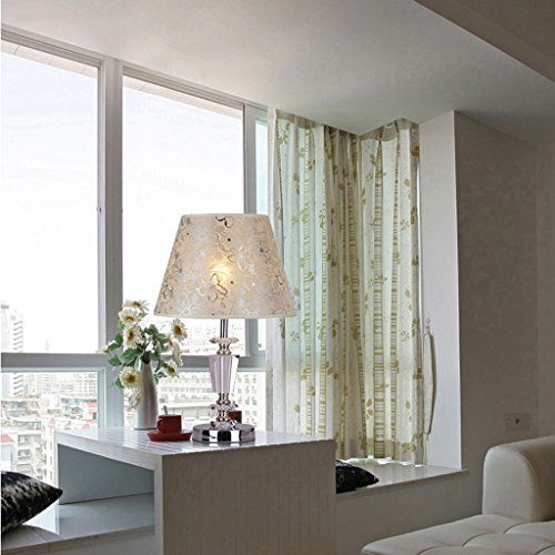 LOVELY Moderne Kristall Tischlampe Einfache Schlafzimmer Nachttisch Licht Tuch Leuchte Wohnzimmer Restaurant Metall Schreibtisch Lampe