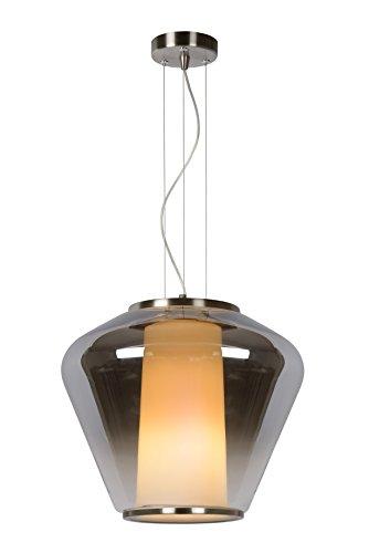 Lucide STIAN - Pendelleuchten - Ř 38 cm - Rauchfarbe Grau Glas E27, 60 W, Smoke Grey 38 x 38 x 168 cm