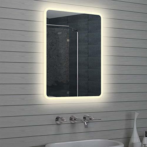 Lux-aqua Design LED Badezimmerspiegel Lichtspiegel Wandspiegel Spiegel 80x60cm M1586