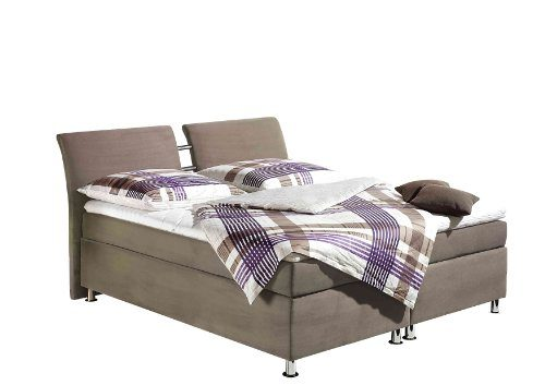 Maintal Betten 235849-2046 Boxspringbett Dean, inkl. Kaltschaum-Topper, Microvelour