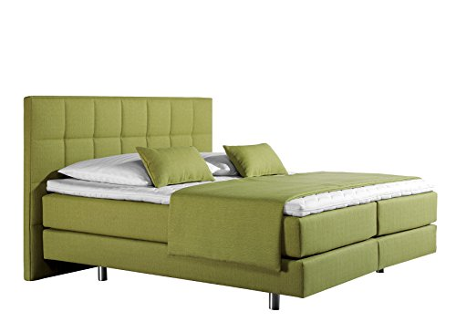 Maintal Betten Boxspringbett Neon, Strukturstoff denim-blau
