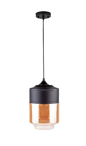 Moderne Pendelleuchte Deckenleuchte Bernstein Glas Lampenschirm Industrie-Vintage