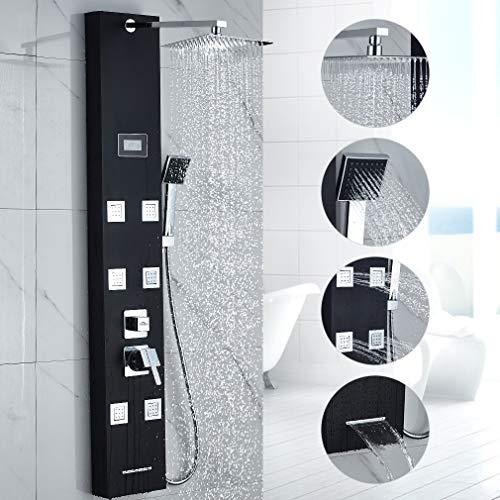 OBEEONR Duschpaneel Duschsystem mit Handbrause Regendushe Duschsäule