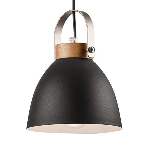 Pendel-Leuchte Decken-Leuchte aus Metall E27 Hänge-Leuchte Vintage Industrieleuchte Wohnzimmerlampe Modern Wohnzimmer mit Kabel Vintagelampe für Wohnzimmer/Küche/Büro/Praxis