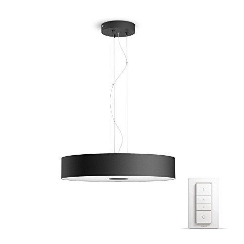 Philips Hue LED Pendelleuchte Fair inkl. Dimmschalter, dimmbar, alle Weißschattierungen, steuerbar via App, schwarz, kompatibel mit Amazon Alexa (Echo, Echo Dot)