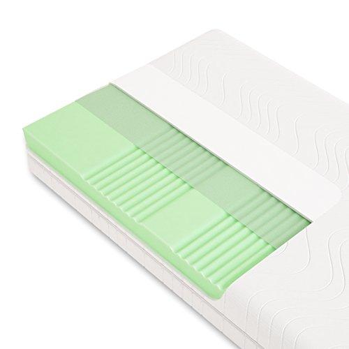Schlummerparadies® hochwertige Matratze 7-Zonen HR-Kaltschaummatratze - Made in Germany - ca. 19cm Gesamthöhe, RG40, geprüfter Kern + Bezug - Optima Klassik
