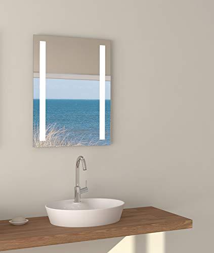Talos Horizon LED Badspiegel, Glas, Aluminium, 4200K 50x70cm