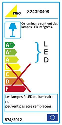Trio Leuchten LED-Pendelleuchte Senator, nickel matt/glas weiß