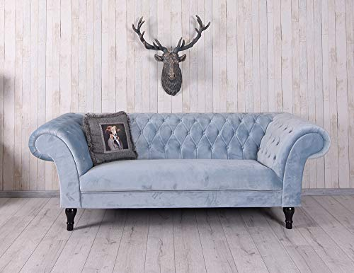 Unbekannt Luxus Sofa XXL Samtsofa Hollywood Couch Polstersofa Vintage Palazzo Exklusiv