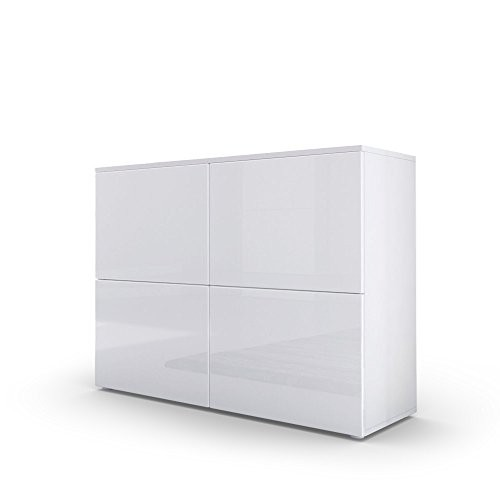 Vladon Kommode Sideboard Rova Weiß