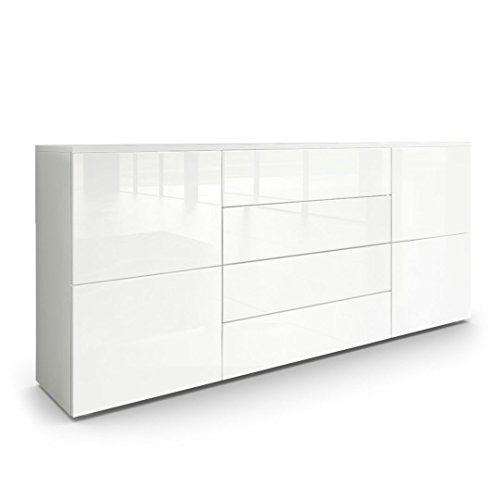 Vladon Sideboard Kommode Rova Weiß