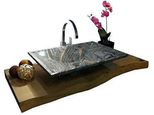 Waschbecken aus Naturstein, Granit, Model Havanna, Juparana, 60x40cm