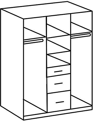 Wimex Drehtürenschrank Click, Holz, schlammeiche/lavafarbig