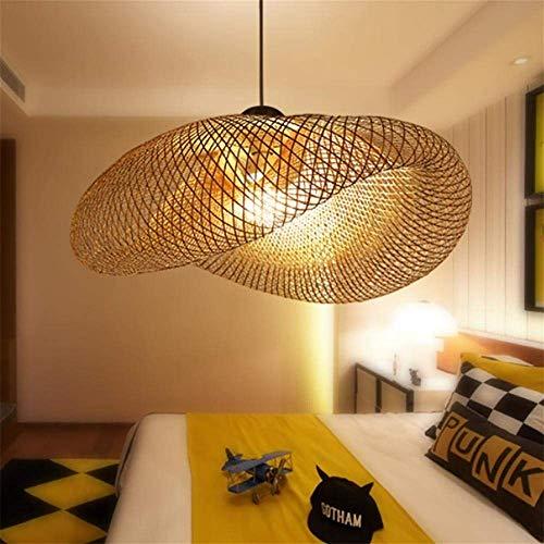 XYDM Pendelleuchten Retro Südostasiatischer Stil Bambus-Rattan Deckenlampe Tee Raum Wohnzimmer Leuchte Dekoration AC110-240V E27