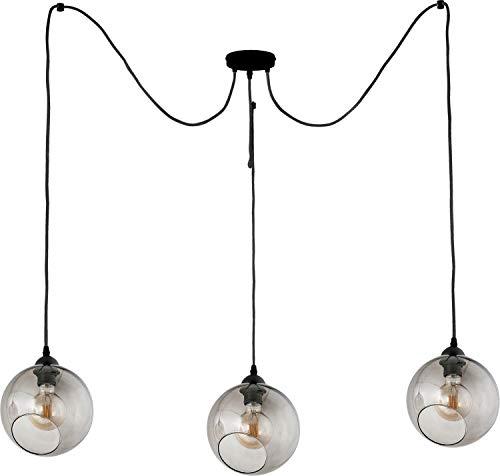 ausgefallen Hängelampe Wohnzimmerlampe Flurlampe POBO in Schwarz,Grafit Wohnzimmer,Esszimmer aus Metall,Glas Modern Design 2A19B8663D