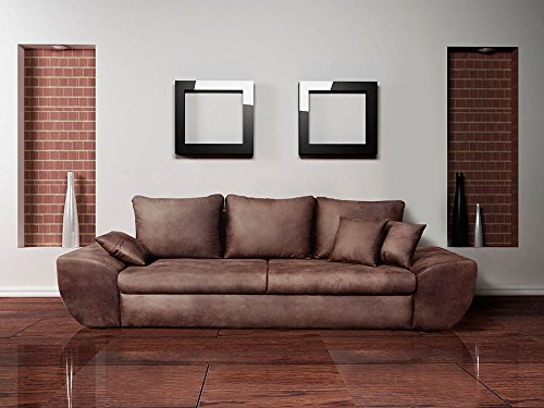 lifestyle4living Sofa, Big Sofa, Schlafcouch, Schlaffunktion, Bettkasten