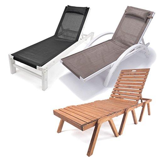 Ampel 24 Relax Liegestuhl & Gartenstuhl mit Liegefunktion, wetterfeste Gartenmöbel, Holzmöbel aus vorbehandeltem Holz