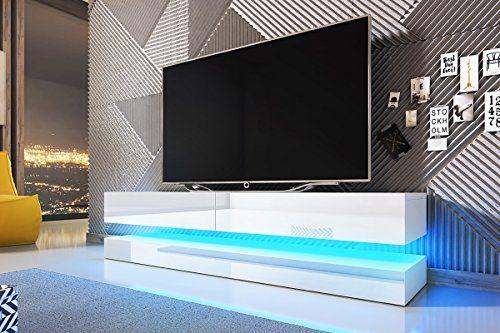 Aviator – TV-Board in Schwebeoptik / TV-Hängeschrank / Fernsehschrank (140 cm)