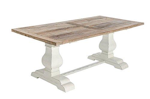 CLP Esszimmertisch SEVERUS aus Holz | Handgefertigter Holztisch im Landhausstil | In verschiedenen Farben und Größen erhältlich